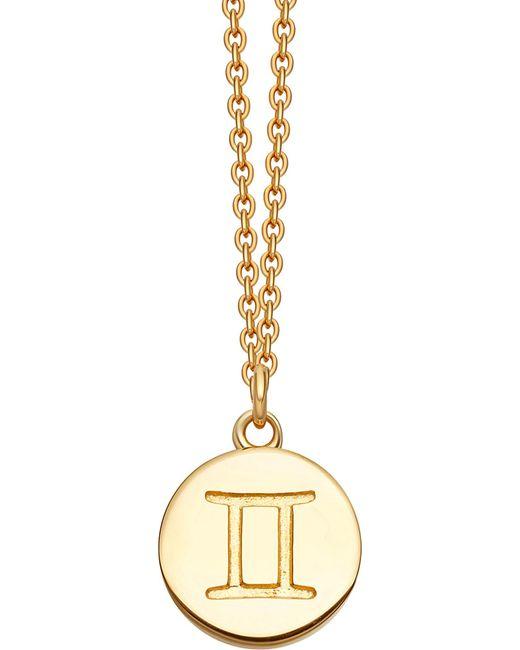 Astley Clarke | Metallic Gemini Zodiac 18ct Yellow-gold Plated Necklace | Lyst