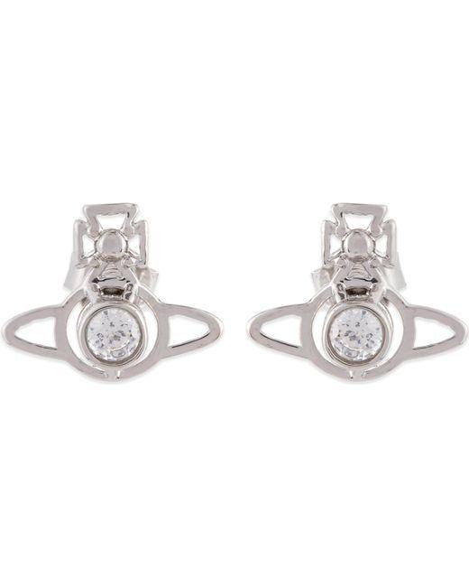 Vivienne Westwood White Nora Orb Earrings