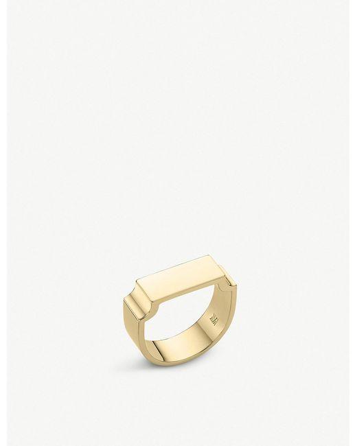 Monica Vinader - Metallic Signature 18ct Yellow-gold Vermeil Wide Ring - Lyst