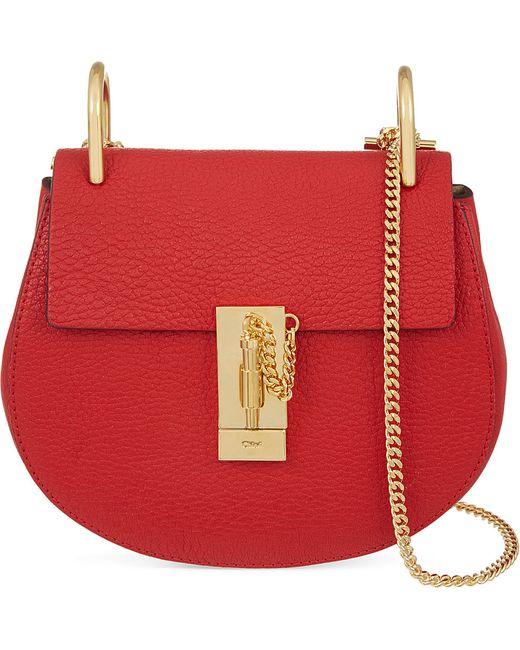 Chloé | Red Drew Mini Leather Cross-Body Bag | Lyst