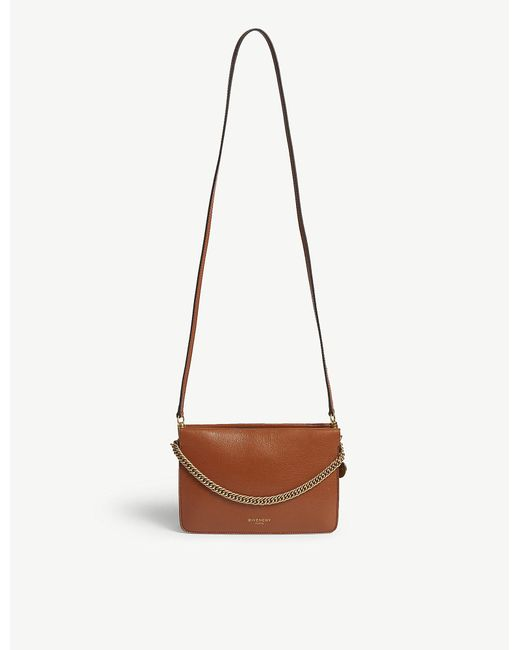 Givenchy - Brown Cross3 Leather And Suede Shoulder Bag - Lyst