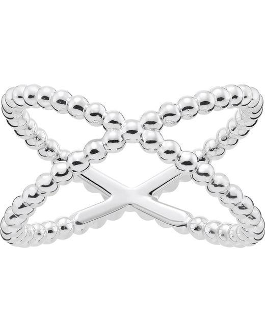Thomas Sabo - Metallic Criss-cross Dot Sterling Silver Ring - Lyst