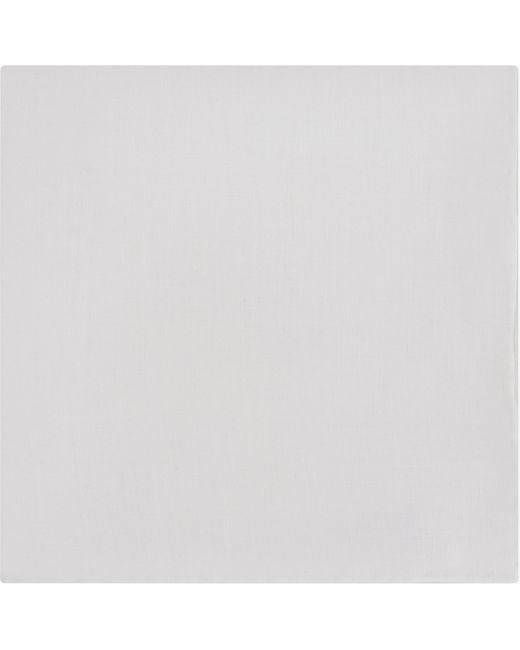Canali - White Linen Pocket Square - For Men for Men - Lyst