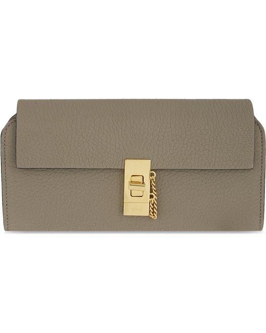 Chloé - Gray Drew Leather Wallet - Lyst