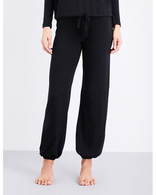 Eberjey   Black Heather Jersey Pyjama Bottoms   Lyst