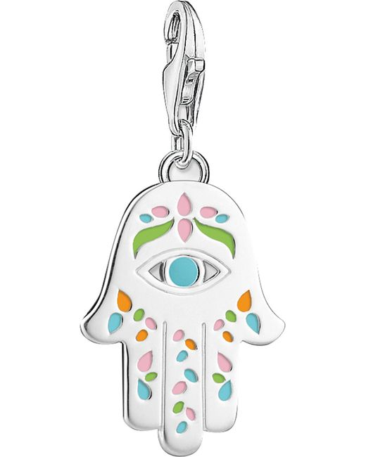 Thomas Sabo - Metallic Mexican Hand Of Fatima And Nazar's Eye Sterling Silver Charm - Lyst