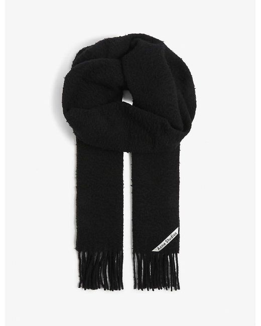 Acne Black Canada New Wool Scarf