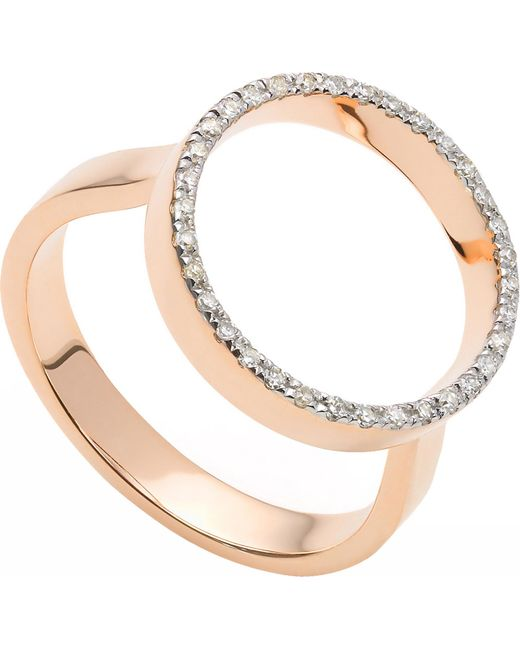 Monica Vinader - Pink Naida Circle Open Ring - Lyst