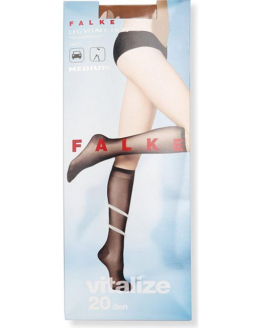 Falke | Brown Vitalize 40 Denier Knee-high Tights | Lyst