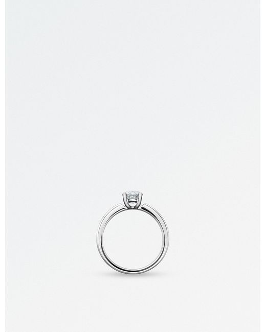 BUCHERER JEWELLERY   Solitaire 18k White-gold And Diamond Ring   Lyst