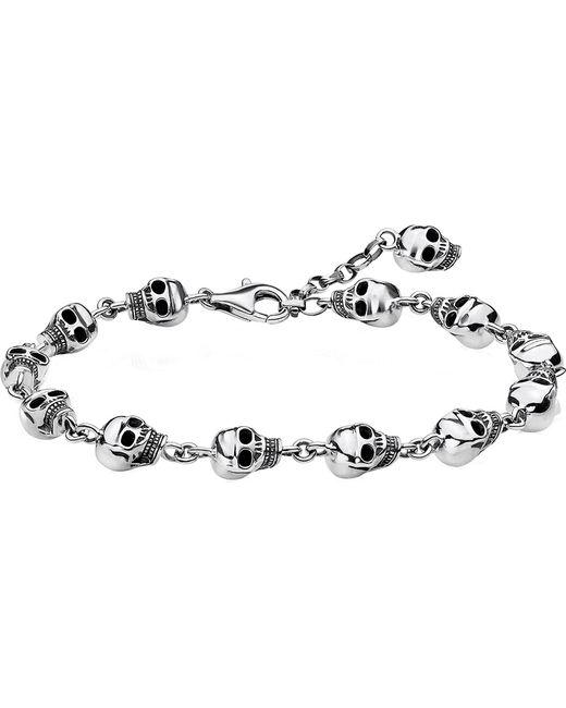 Thomas Sabo - Metallic Rebel At Heart Sterling Silver Bracelet - Lyst