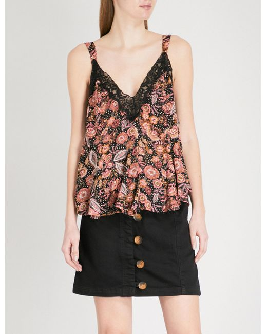 Free People - Multicolor Infinite Love Floral-print Woven Top - Lyst