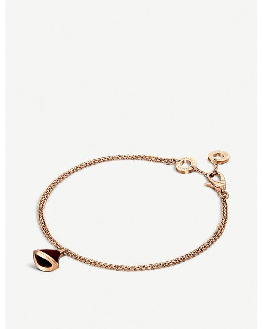 BVLGARI Women's Pink Divas' Dream 18kt Pink-gold And Carnelian Bracelet