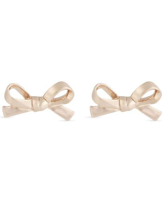Kate Spade - Metallic Skinny Bow 12ct Gold-plated Earrings - Lyst