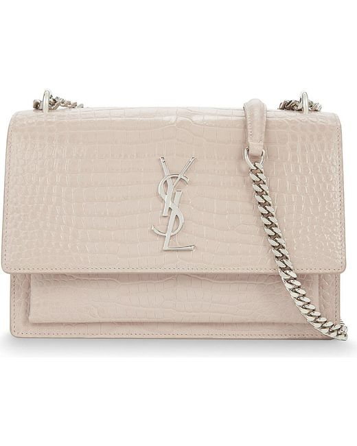a86b3b4a8b6 Saint Laurent Sunset Medium Textured-leather Shoulder Bag | City of ...