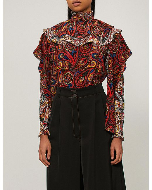 Brand New Unisex Sale Online Prices paisley print shirt - Red J.W.Anderson g5AgNN