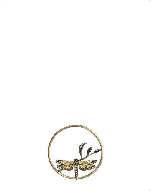 Annoushka - Metallic Hoopla Dragonfly Diamond 18ct Rose-gold Pendant - Lyst