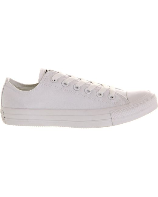 Converse - White All Star Low-top Trainers for Men - Lyst