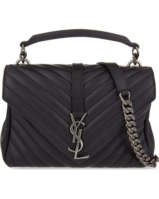 706654cee530 Saint Laurent Monogram College Small Quilted Leather .
