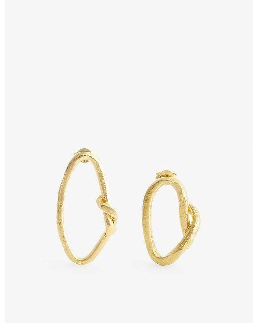 Alighieri Metallic The Wasteland 24ct Gold-plated Bronze Hoop Earrings