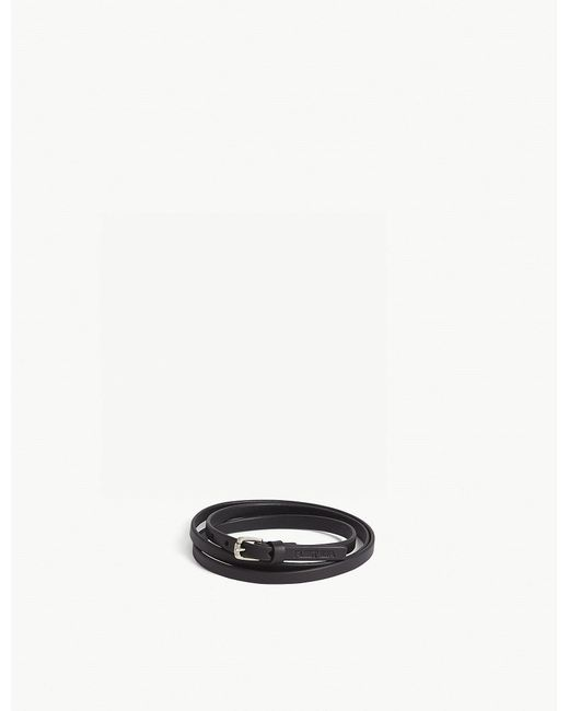 Fleet Ilya - Black Leather Choker Wrap - Lyst