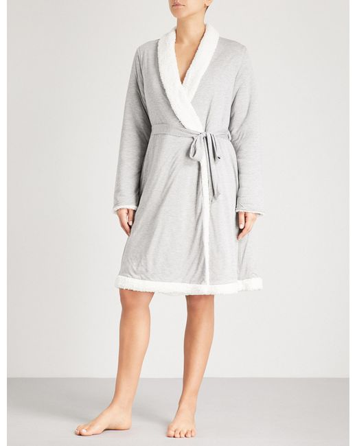 Eberjey - Gray Alpine Chic Classic Dressing Gown - For Women - Lyst