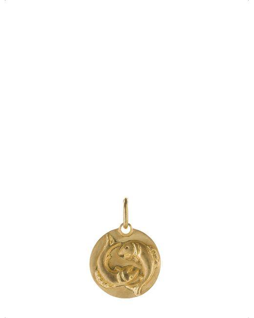 Annoushka - Pisces 18ct Yellow Gold Pendant - Lyst