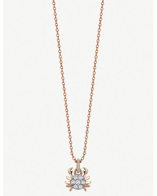 The Alkemistry - Metallic Kismet By Milka 14ct Rose-gold Cancer Necklace - Lyst