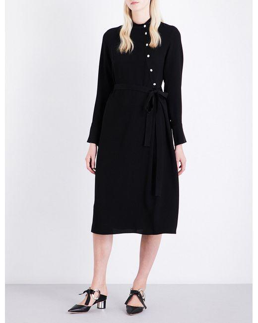 OSMAN | Black Melinda Asymmetric Crepe Dress | Lyst