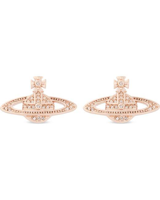 Vivienne Westwood - Pink Mini Bas Relief Diamante Orb Earrings - Lyst