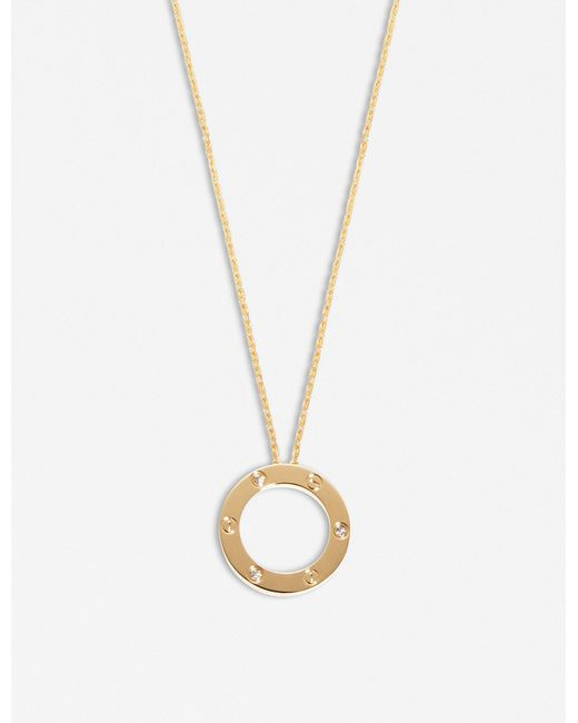 Cartier | Love 18ct Yellow-gold And Diamond Necklace | Lyst