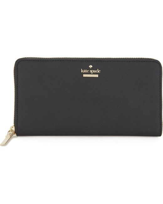 Kate Spade - Black Cameron Street Lacey Leather Wallet - Lyst