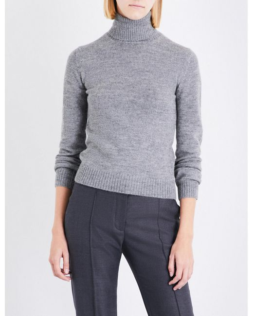 Stella McCartney | Gray Waffle-knit Wool And Alpaca-blend Jumper | Lyst