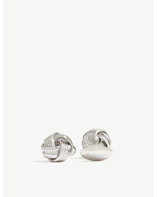 Eton of Sweden - Metallic Knot Cufflinks for Men - Lyst