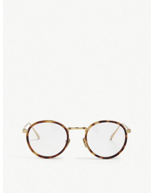 Linda Farrow - Metallic Lfl182 Oval-frame Glasses - Lyst