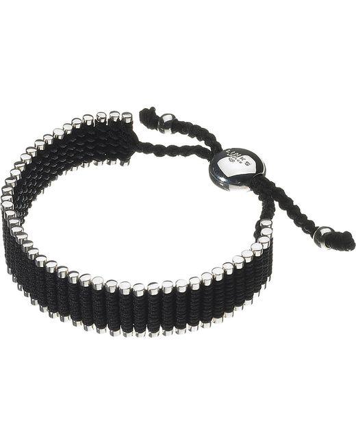 Links of London | Wide Friendship Bracelet - Black | Lyst