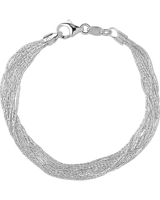 Links of London | Metallic Silk 10 Row Sterling Silver Multi-chain Bracelet | Lyst