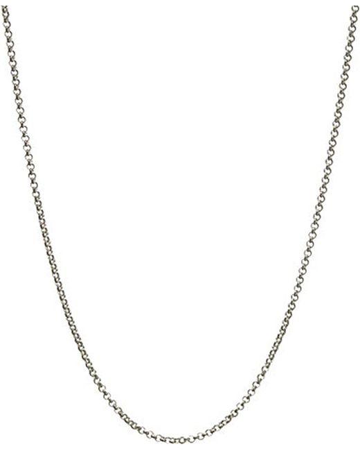 Links of London | Metallic Mini Belcher Sterling Silver Chain 61cm | Lyst