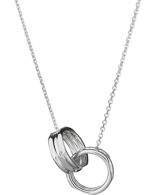 Links of London | Metallic 20/20 Interlocking Sterling Silver Necklace | Lyst