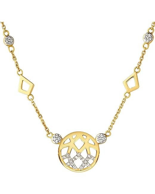 Links of London | Metallic Timeless Gold 18ct Yellow-gold And Diamond Necklace | Lyst