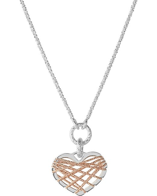 Links of London | Metallic Dream Catcher Rose-gold Heart Pendant Necklace | Lyst