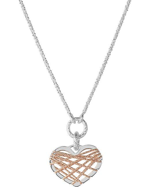 Links of London | Metallic Dream Catcher Rose-gold Heart Pendant Necklace | Lyst