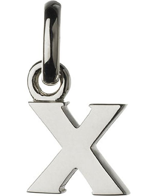 Links of London | Metallic Alphabet X Sterling Silver Charm | Lyst