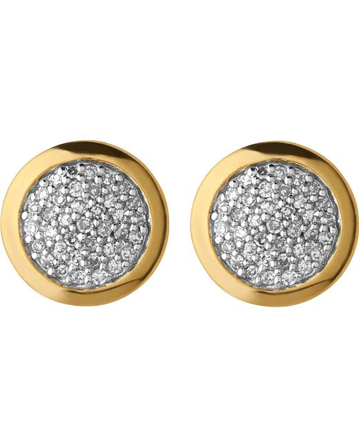 Links of London | Metallic Diamond Essentials Gold And Diamond Stud Earrings | Lyst