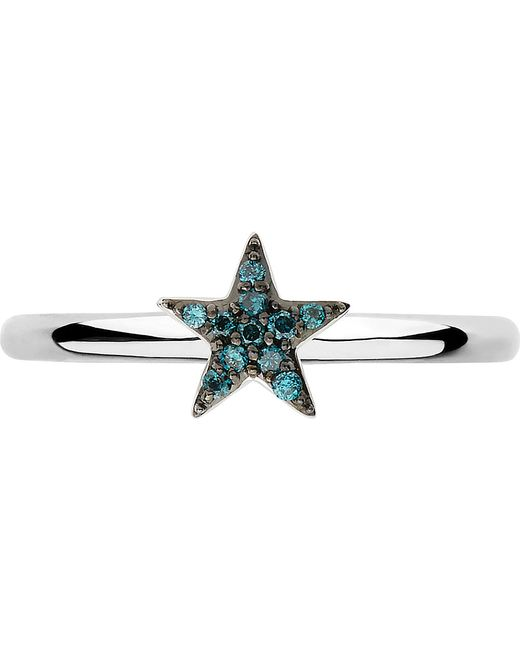 Links of London | Metallic Diamond Essentials Sterling Silver And Diamond Star Ring | Lyst