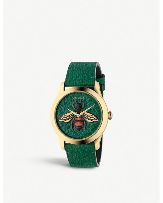 e9ca42afc90 Gucci - Metallic Ya1264065 G-timeless Gold Pvd And Leather Watch for Men -  Lyst