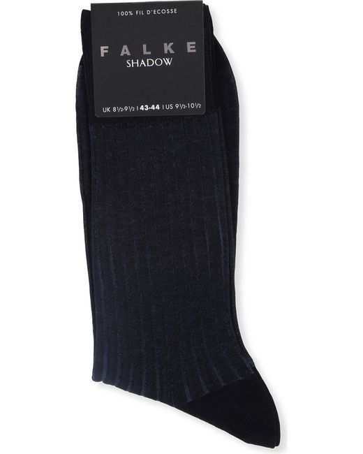 Falke - Blue Ribbed Cotton Shadow Socks for Men - Lyst