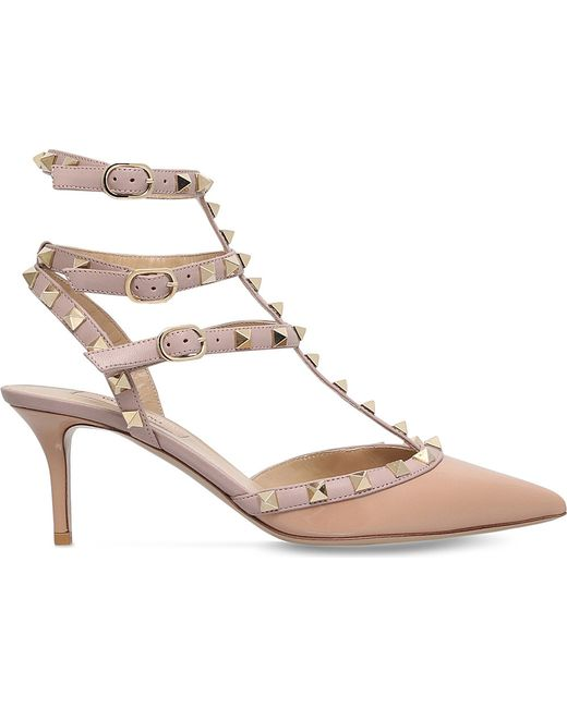 Valentino | Pink Rockstud Patent Leather Pumps | Lyst