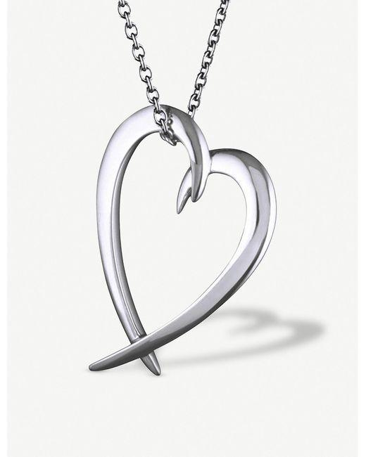 Shaun Leane Metallic Heart Sterling-silver Pendant Necklace