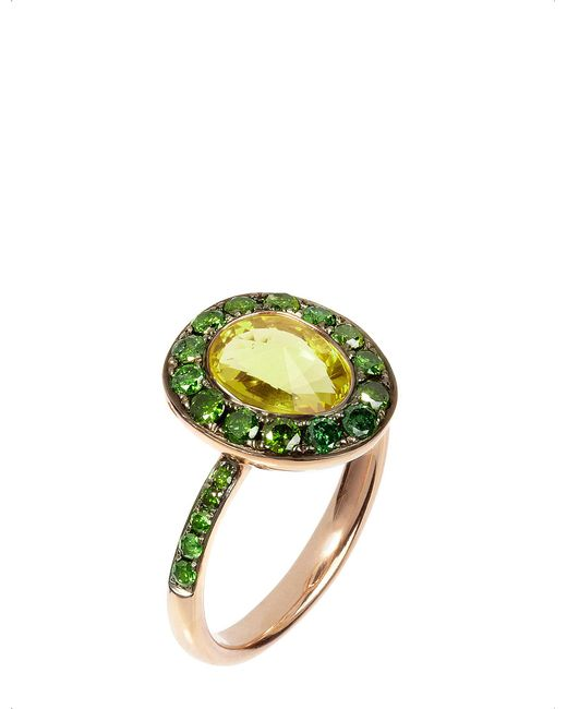 Annoushka - Green Dusty Diamonds 18ct Rose-gold - Lyst
